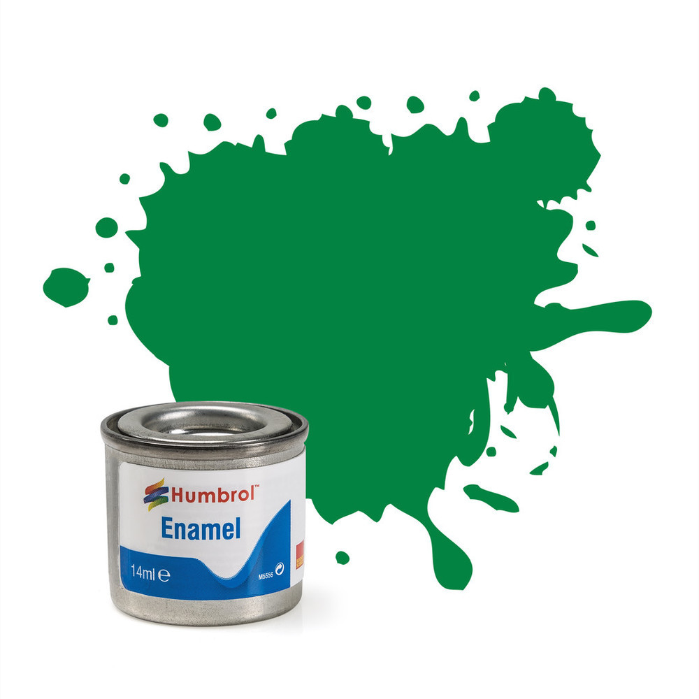 No 2 Emerald Gloss Enamel Paint (14ml)
