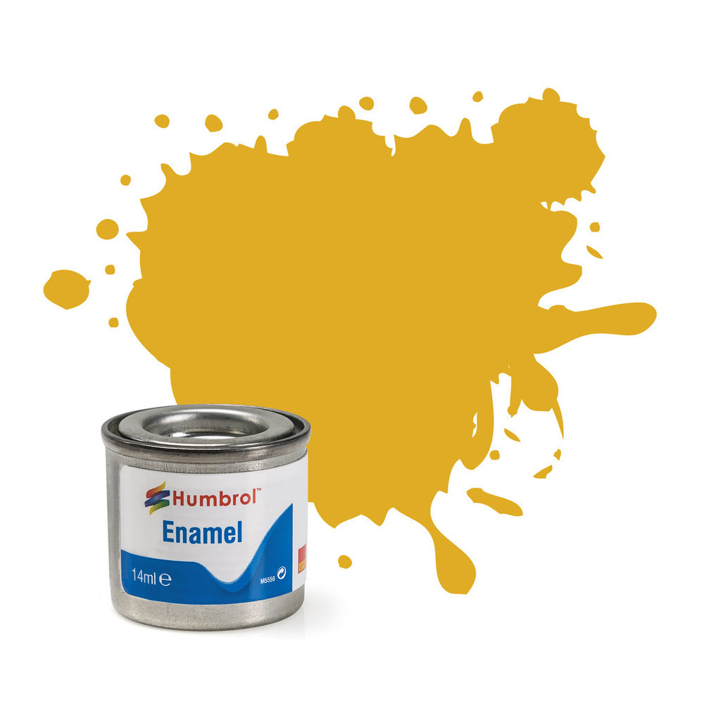 No 16 Gold Metallic Enamel Paint (14ml)