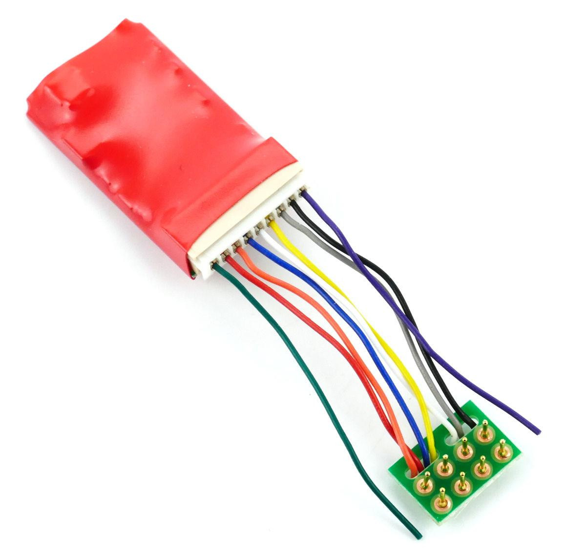 Ruby Series 6fn Pro DCC Decoder 8 Pin