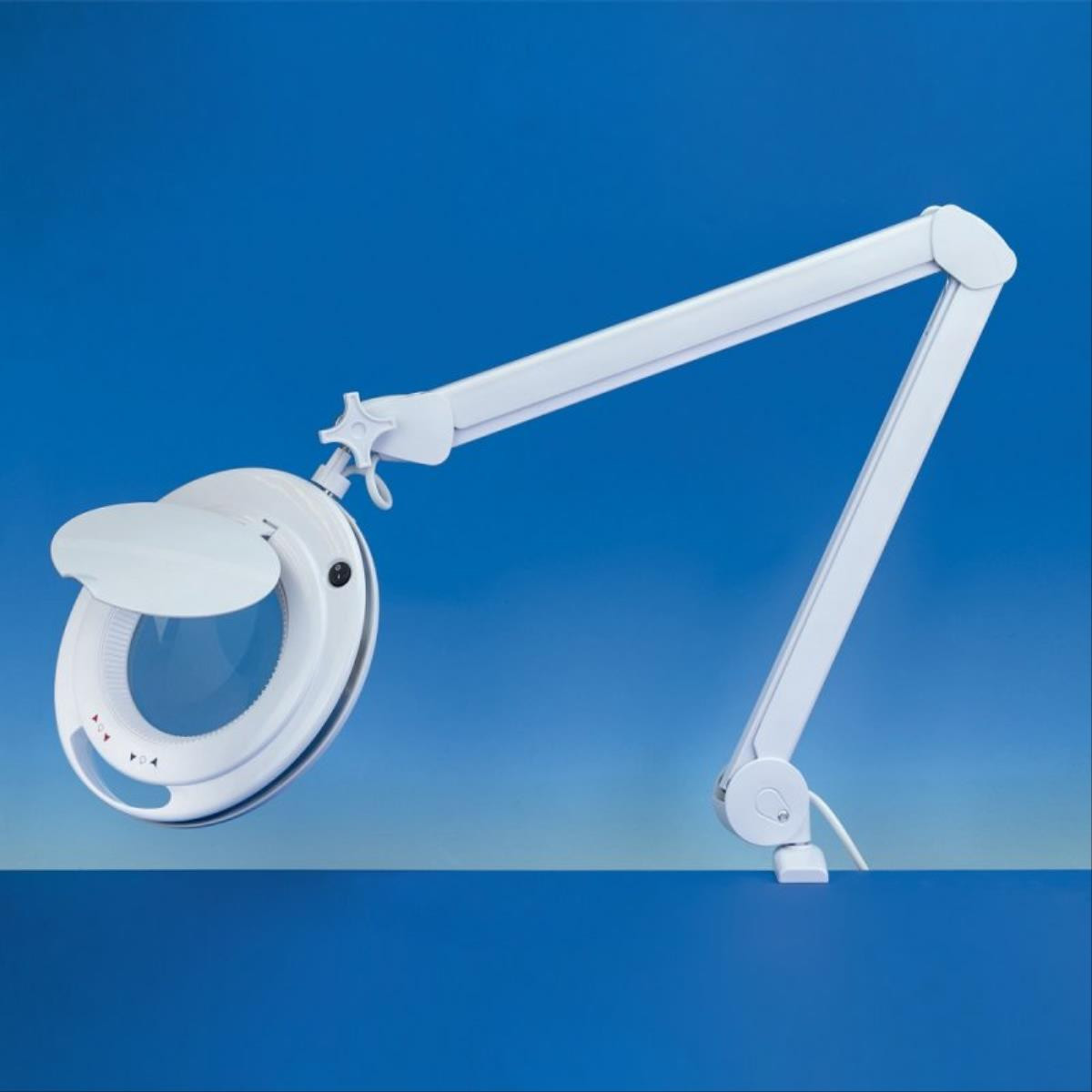 Light Craft LED Magnifier Lamp with Warm to Cool light dimmer and 2 lenses