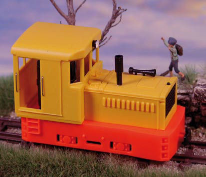 Plymouth Diesel Loco Yellow Body/Red Chassis