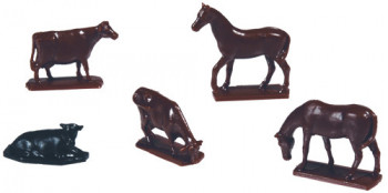 Cows & Horses Figure Set
