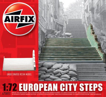 European City Steps Undecorated Resin (1:72 Scale)