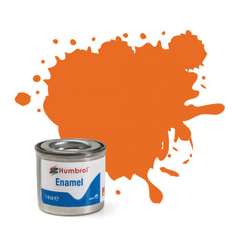 No 46 Orange Matt Enamel Paint (14ml)