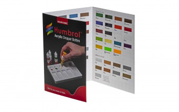 Humbrol Acrylic Colour Chart with Hi-Spec Printing