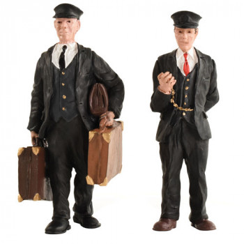 Porter and Station Master Figure Set