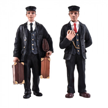 Station Master and Porter Figure Set