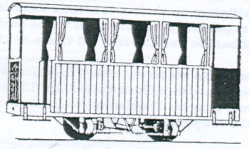 Glyn Valley Tramway 4 Wheel 3rd Class Coach Balcony End Kit