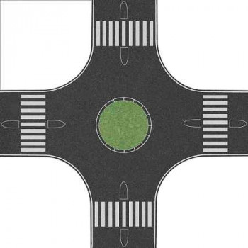 Roundabout 160x160mm for 80mm Roads