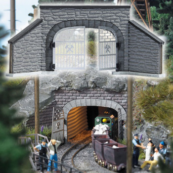Double Track Mine Gated Entrance Portal