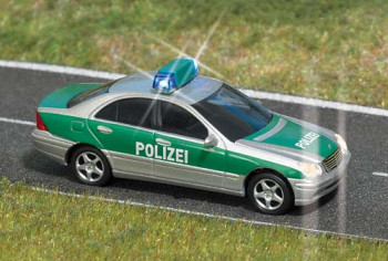 Mercedes C Class Police Car Blue Flashing Roof Light