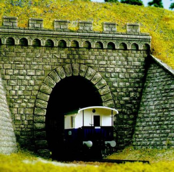 Single Track Tunnel Portal with Stone Walls (2)