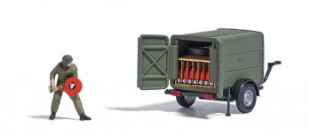 *Military Trailer with Fire Hose Action Set