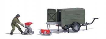 *Military Trailer with Portable Pump Action Set