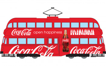 *Coca Cola Double Decker Tram Open Happiness