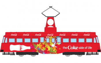 *Coca Cola Single Decker Tram Coke Side of Life