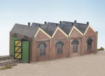 Two Road Engine Shed Sawtooth Design Craftsman Kit