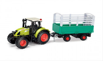 Claas Arion 540 with Cattle Trailer