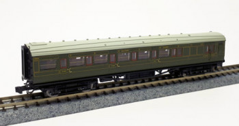 Maunsell SR Brake Composite Coach Lined Green 6565