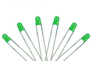 #D# T1 Type 3mm with Resistors Green (6)