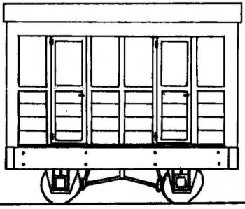 Freelance Planked 2 Compartment 4 Wheel Coach Kit