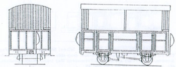 Open Two Compartment 4 Wheel Coach Kit