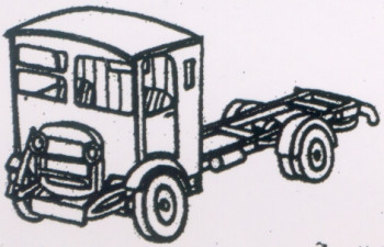 Thornycroft A1 Cab and Chassis (1930-50) Kit