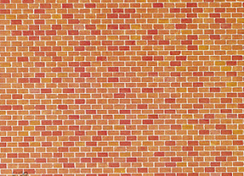 Red Brick Wall Card 250x125mm
