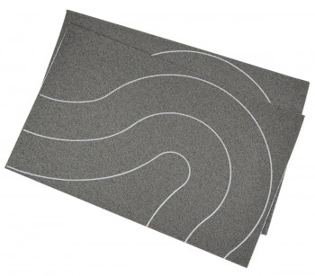 Self Adhesive Tarmac Road Universal Curves OO (80mm) 2pcs