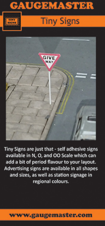 Gaugemaster Tiny Signs DL Leaflet