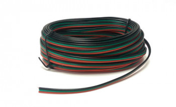 Point Motor Wire Red/Green/Black Tripled (14 x 0.15) 10m