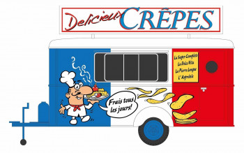 French Crepes Catering Trailer