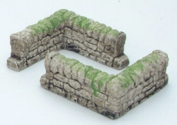 Dry Stone Wall Corner Right Angle (Pre-Built)