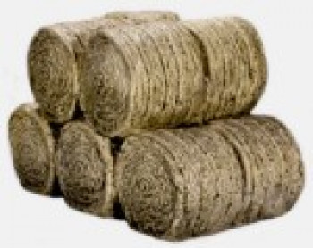 Stacked Round Hay Bales (Pre-Built)