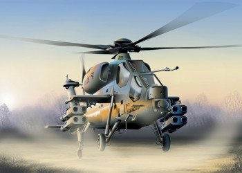 Italian A 129 Mangusta Helicopter (1:72 Scale)