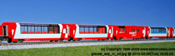 Glacier Express Coach Set (4)