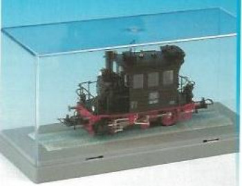 Display Case with Track 15x6x6.5cm