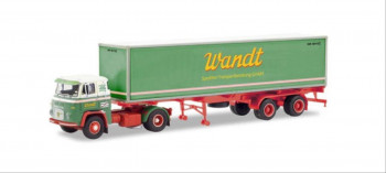 Scania Vabis LB 76 Container Semitrailer Spedition Wandt