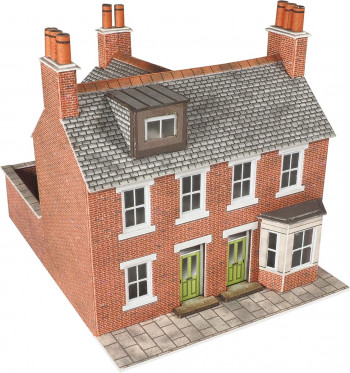 Red Brick Terraced Houses (2) Card Kit