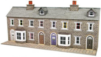 Low Relief Stone Terraced House Fronts Card Kit