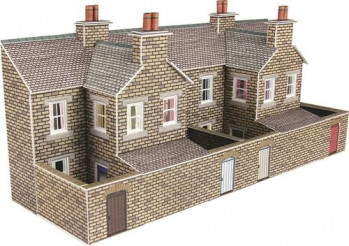 Low Relief Stone Terraced House Backs Card Kit