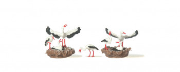 Storks with Nests (2) Figure Set
