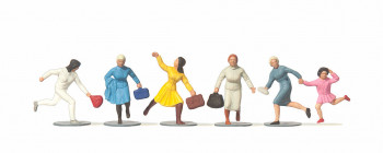Running Women Travellers (6) Figure Set
