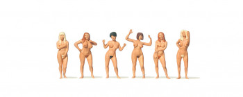 Nude Female Swimmers Standing (6) Figure Set