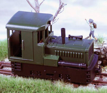 Plymouth Diesel Loco Green/Black, With Boxes & Presure Tank