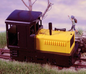 Plymouth Diesel Loco Black Cab & Chassis/Yellow Hood