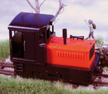 Plymouth Diesel Loco Black Cab & Chassis/Red Hood