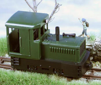 Plymouth Diesel Loco Green Body/Black Chassis