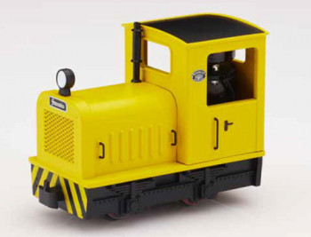 Industrial Diesel Locomotive Yellow with Wasp Stripes