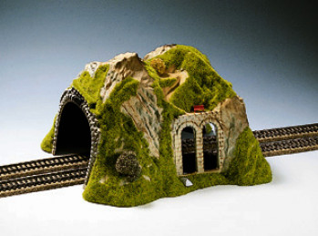 Double Track Straight Tunnel 30x28x17cm